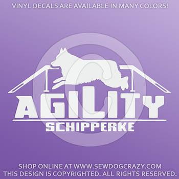 Vinyl Agility Schipperke Decals