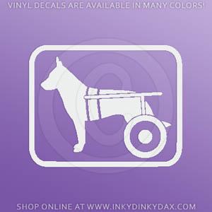 Wheelchair Dog stickers