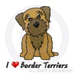 Embroidered Border Terrier Shirts