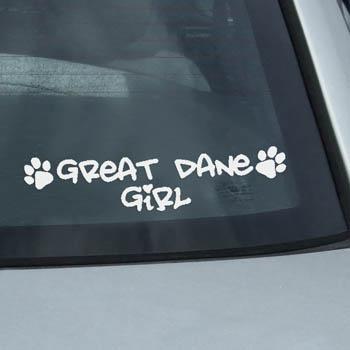 Great Dane Girl Decal