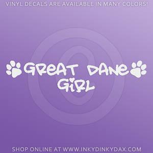 Great Dane Girl Decals