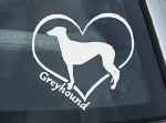 I Love Greyhounds Decal