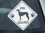 Greyhound On Board Sign Decal