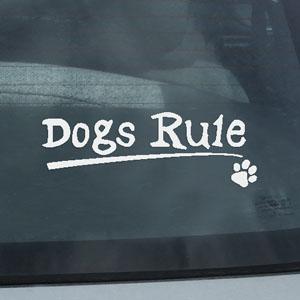 Dogs Rule Vinyl Sticker