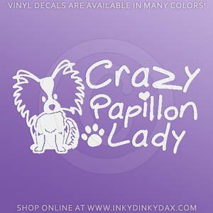 Crazy Papillon Lady Decals