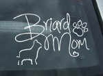 Briard Mom Vinyl Sticker