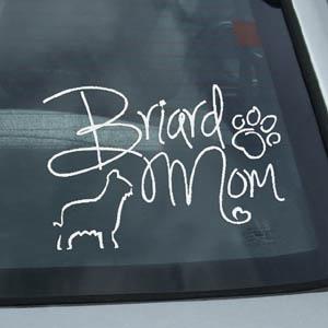 Briard Mom Vinyl Sticker