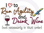 Run Agility Drink Wine Shirts