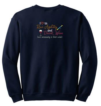 Dog Agility Wine Sweatshirt