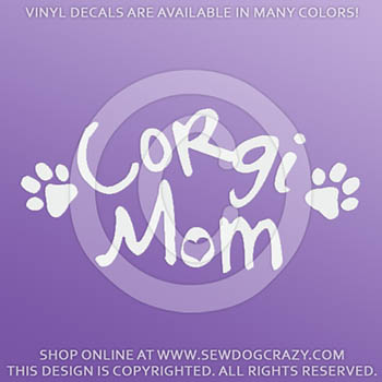 Vinyl Corgi Mom Stickers