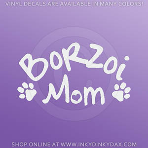 Borzoi Mom Decals