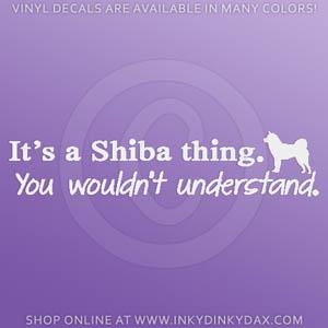 Funny Shiba decal