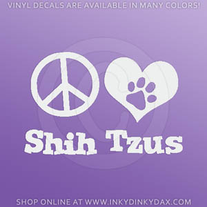 Peace Love Shih Tzus Decal