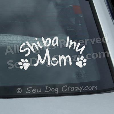 Vinyl Shiba Inu Mom Car Decals