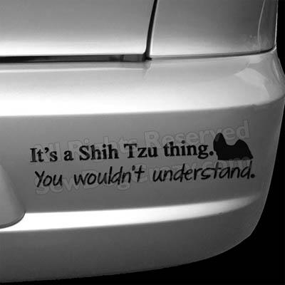 Funny Shih Tzu Bumper Stickers
