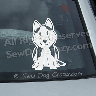 Vinyl Cartoon Siberian Husky Car Decals