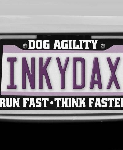 Dog Agility License Plate Frame