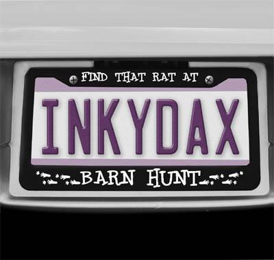 Barn Hunt License Plate Frame