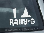Love rally Obedience Decal