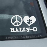 Peace Love Rallyo Decal
