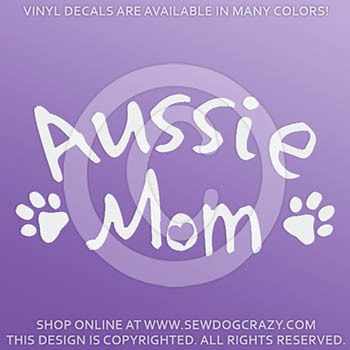 Australian Shepherd Mom Vinyl Decal
