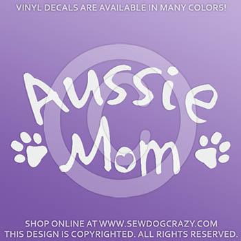 Australian Shepherd Mom Vinyl Decal