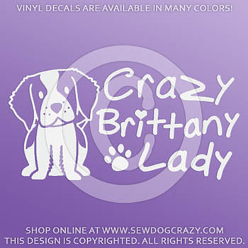 Crazy Brittany Lady Vinyl Stickers