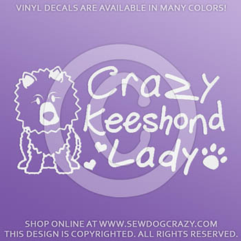 Crazy Keeshond Lady Decal
