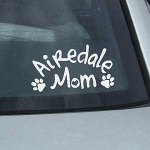 Airedale Mom Sticker