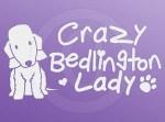 Crazy Bedlington Terrier Lady Sticker