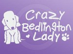 Crazy Bedlington Terrier Lady Sticker
