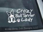 Crazy Bull Terrier Lady Decal
