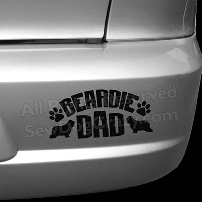 Bearded Collie Dad Bumper Sticker