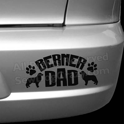 Bernese Mountain Dog Dad Bumper Stickers