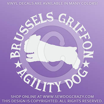 Brussels Griffon Agility Decals