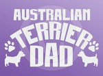 Australian Terrier Dad Decals