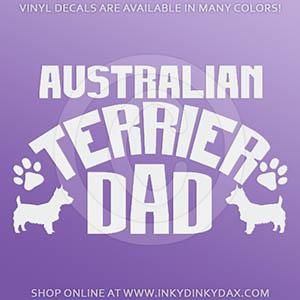 Australian Terrier Dad Decals