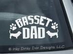 Basset Hound Dad Decal