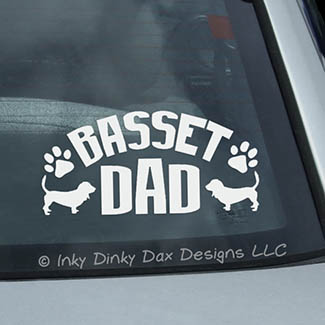 Basset Hound Dad Decal