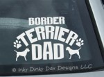 Border Terrier Dad Decals