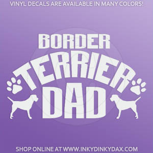 Border Terrier Dad Decal
