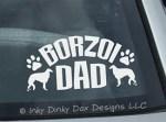Borzoi Dad Decal