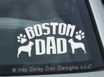 Boston Terrier Dad Decal