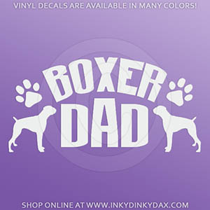 Boxer Dad Decals