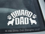 Briard Dad Decal