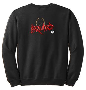 Embroidered Briard Sweatshirt