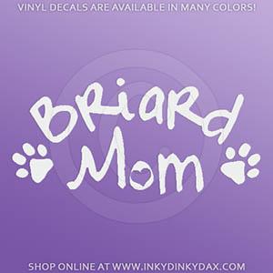 Briard Mom Decals