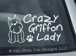 Brussels Griffon Lady Decal