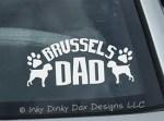 Brussels Griffon Dad Decal