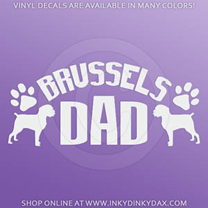 Brussels Griffon Dad Decals